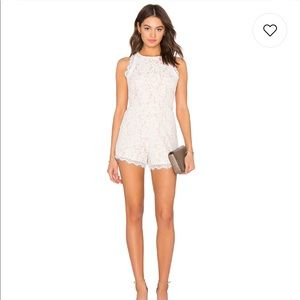 Endless Rose white lace romper